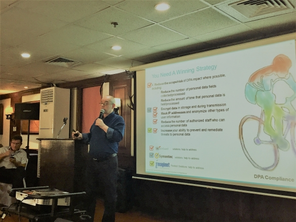 Imaginet CEO presents to Propeller Club on Jan 31st 2018 on the RA10173  Data Privacy Act